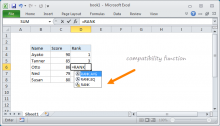 Example of Excel compatibility function
