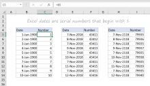 Excel dates are just serial numbers (example)