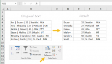 Excel's Text to Columns feature