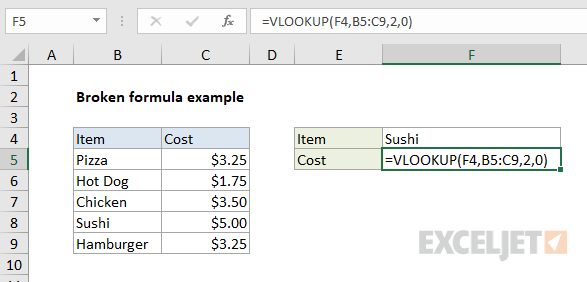 Broken formula - Excel shows formula but no result