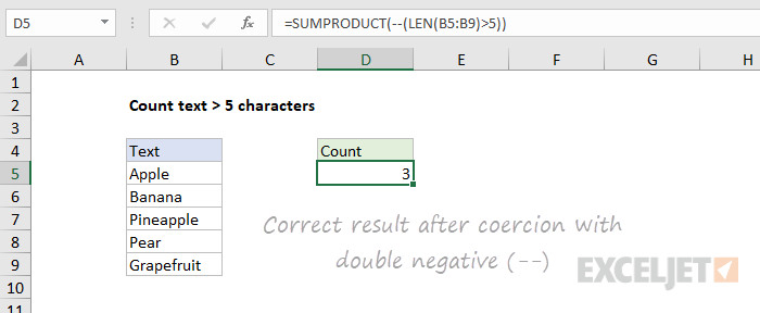 Correct result after coercion with double negative