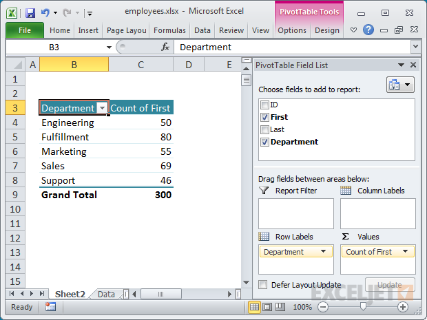 23 things you should know about excel pivot tables exceljet