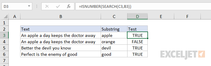 Formula criteria - cell contains specific text