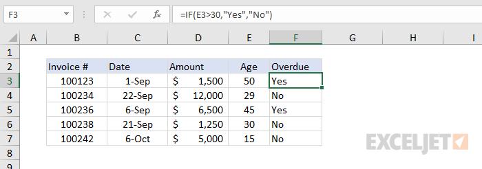 Formula criteria example #1