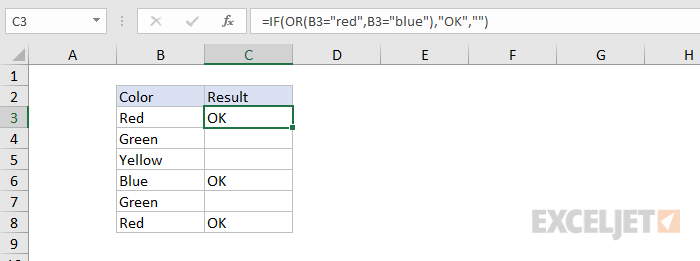 Formula criteria - testing with IF function