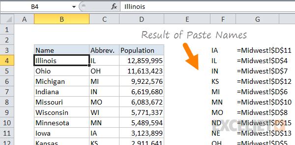 20 Tips For Named Ranges In Excel Exceljet. After Pasting Named Ranges Into Worksheet. Worksheet. Name The Worksheet In Excel At Clickcart.co