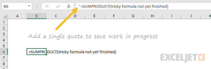 Save formula in progress