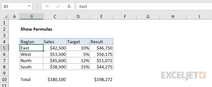 Excel shows formula but not result | Exceljet