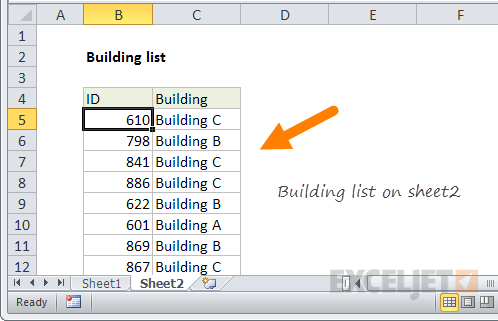 Excel formula: VLOOKUP from another sheet | Exceljet
